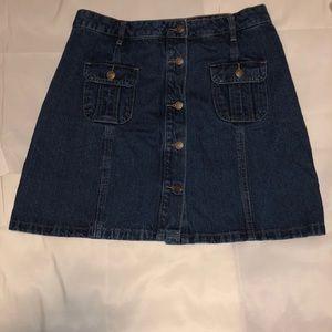 Papaya Denim Skirt